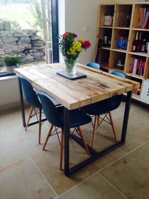 Mesa Para Comedor Diseño Industrial De Hierro 70x120