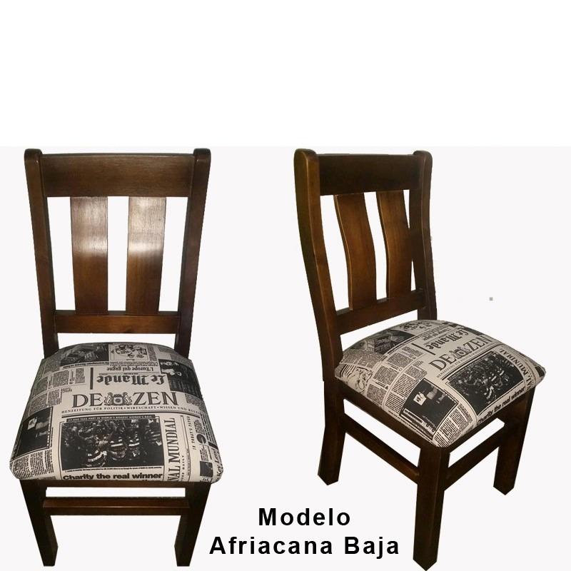 Mesa para comedor con 6 sillas tapizadas color a elección ...