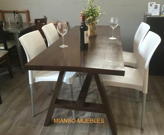 Mesa para comedor en madera con 4 sillas 5 en mercado libre for Comedor 4 sillas madera