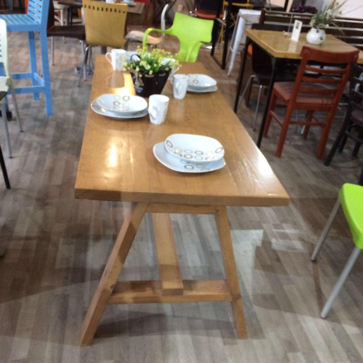 Mesa para comedor en madera modelo mianso 4 en for Mesas de comedor rectangulares