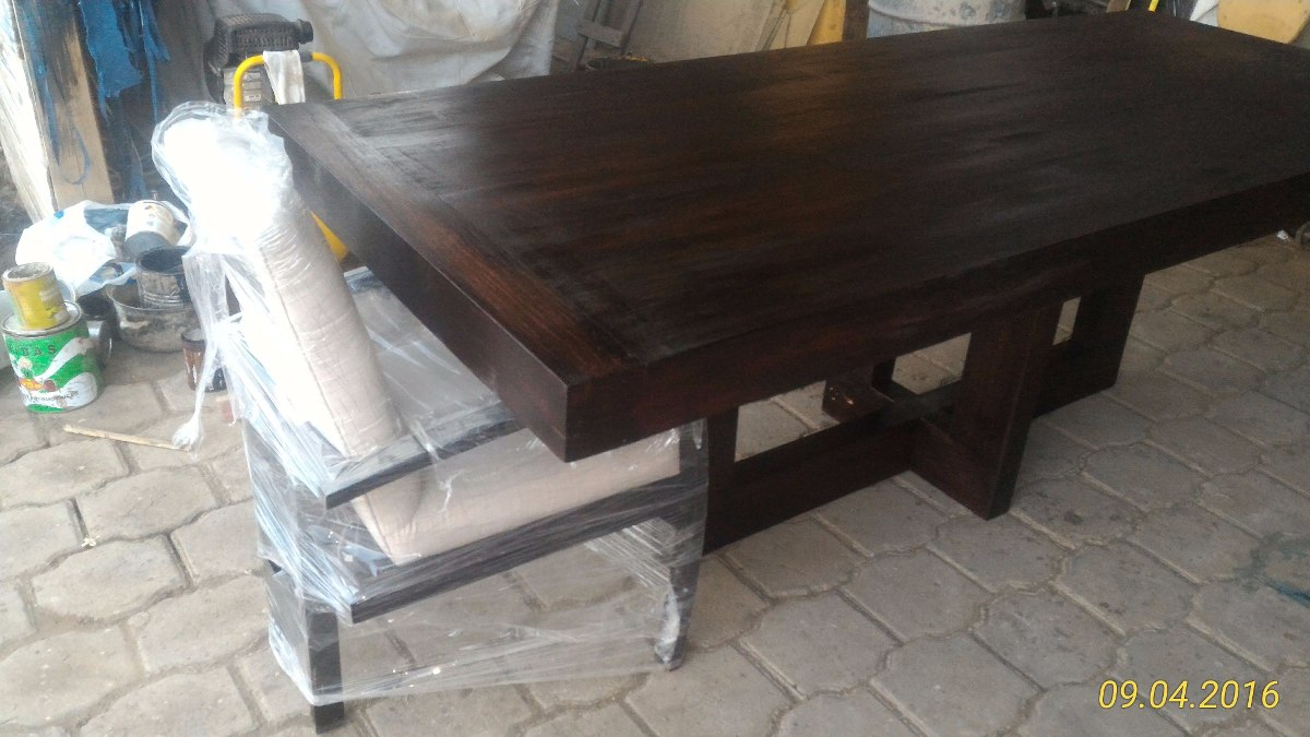 Mesa para comedor madera maciza u s 400 00 en mercado libre - Mesa comedor madera maciza ...