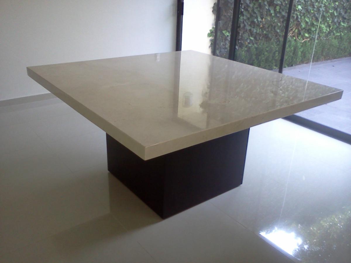 Mesa para comedor marmol beige 8 en mercado libre for Mesas cuadradas para comedor