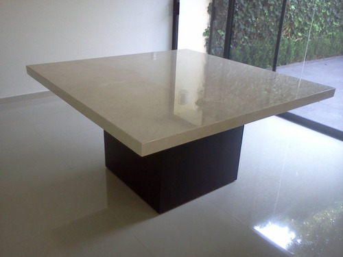 Mesa para comedor marmol beige 8 en mercado libre for Mesas de marmol para comedor