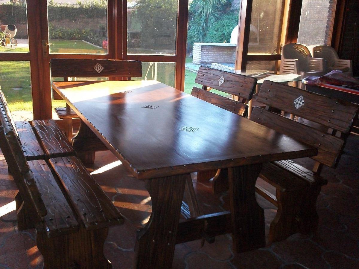 Mesa para comedor o barbacoa rustico for Muebles comedor rusticos