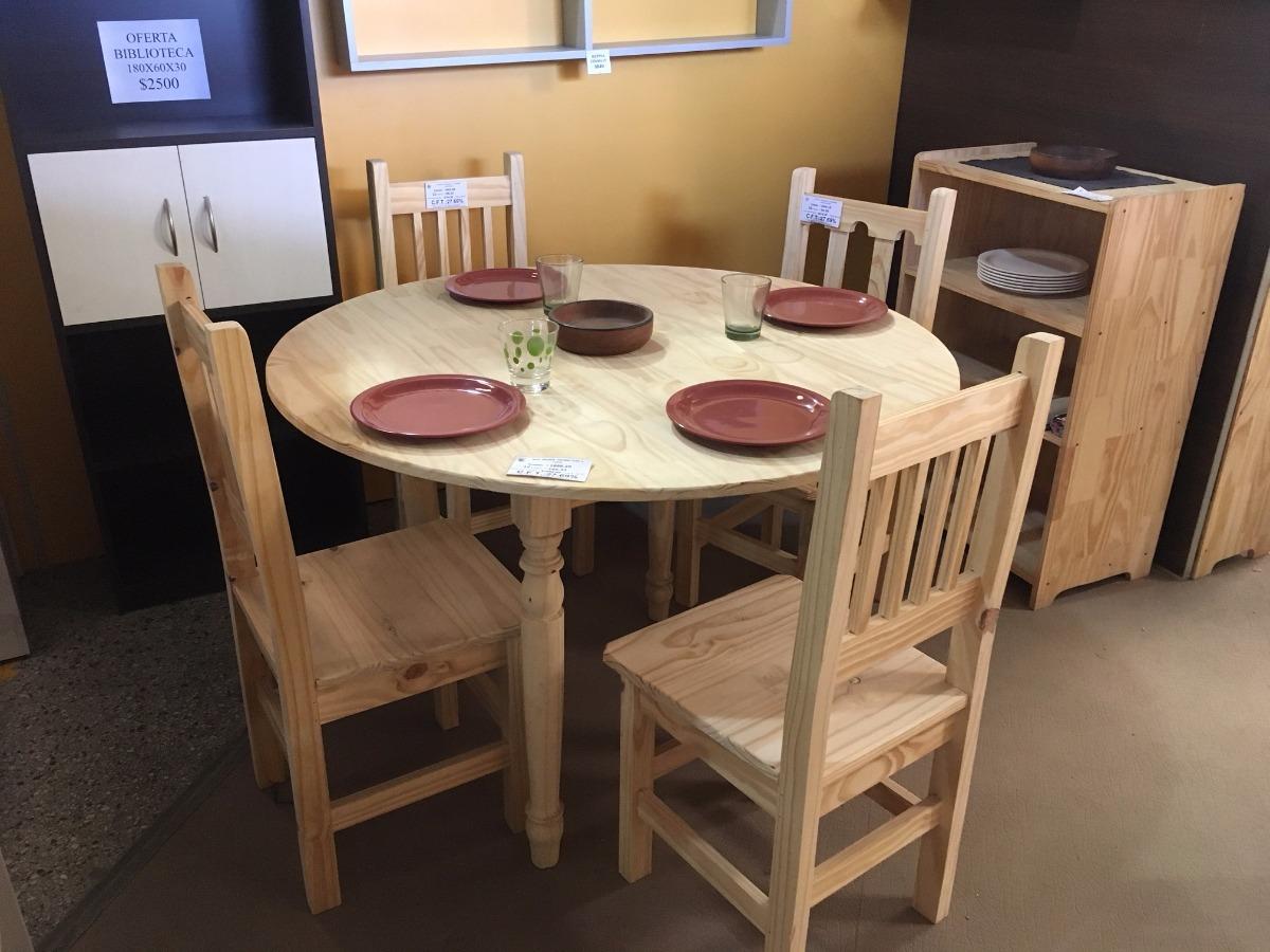 Mesa Para Comedor Redonda Para 4-6 Personas 120cm Diametro - $ 2.210 ...