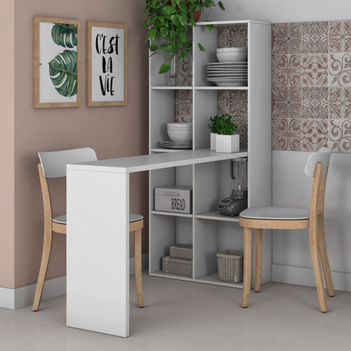 mesa para computador com estante bmu138 branco bp