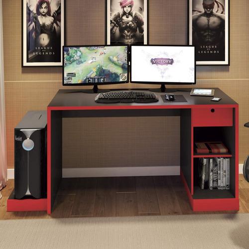 mesa para computador desk gamer drx 3000 siena móveis jhwt