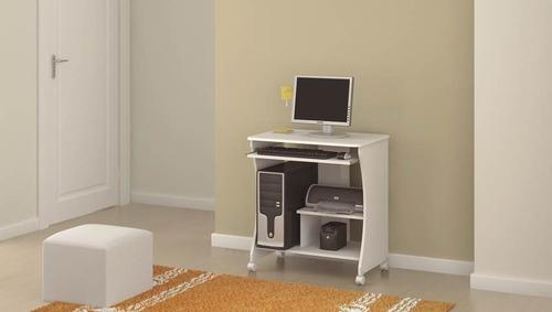 mesa para computador e impressora cor branca