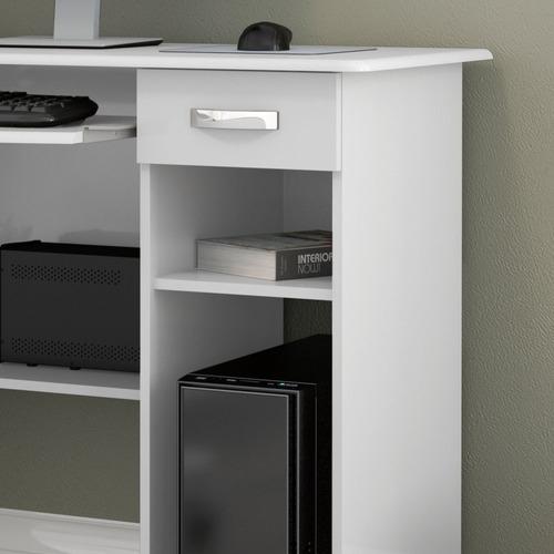 mesa para computador viena com gaveta - branco - ej móveis