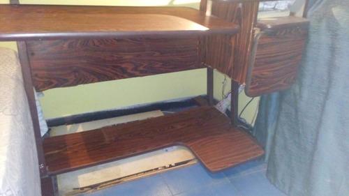 mesa para computadora 3 niveles con gaveta