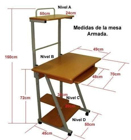 mesa para computadora de escritorio usa-net 4 niveles desk3c