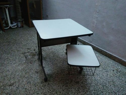 mesa para computadora de melamina blanca