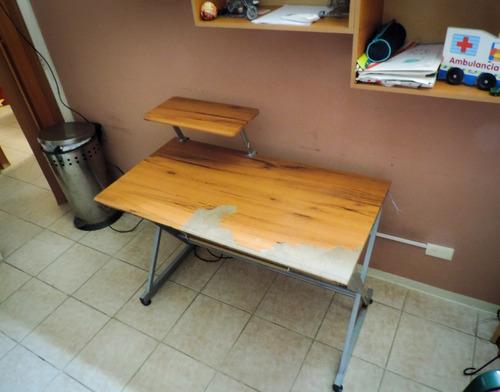 mesa para computadora e impresora
