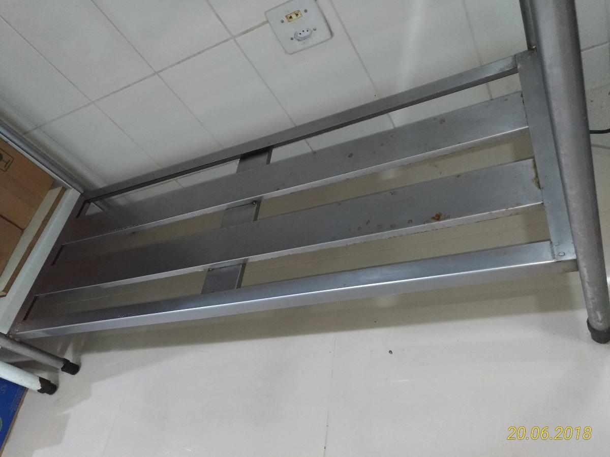 Mesa Para Cozinha Industrial Em Inox 1 50 M X 70 Cm R 1 000 00 Em