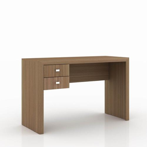 mesa para escritório 2 gavetas me4123 tecnomobili amendoa