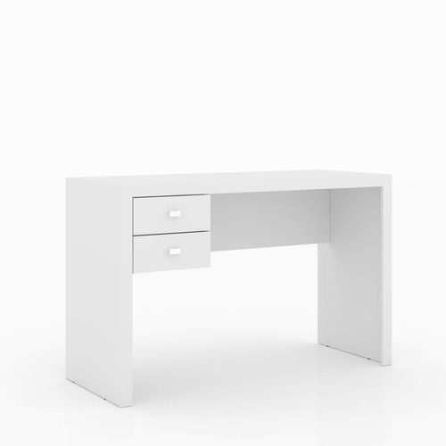mesa para escritório 2 gavetas me4123 tecnomobili branco