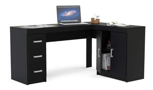 mesa para escritório canto 2 portas 3 gavetas espanha eb