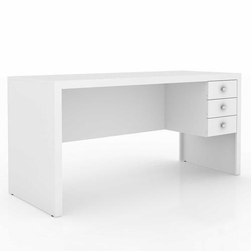mesa para escritório com 3 gavetas me4113 tecno mobili f