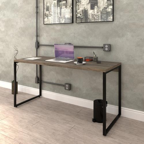 mesa para escritório diretor estilo industrial 1,50m kuadra