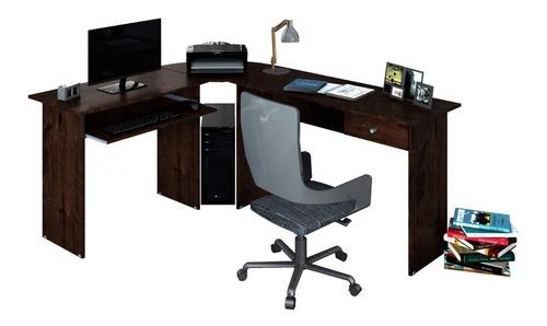 mesa para escritório em l 1 gaveta max zanzini gi