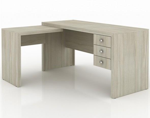 Mesa para escrit rio em l me4106 com 3 gavetas r 718 00 - Mesa de escritorio ...