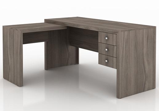 Mesa para escrit rio em l me4106 com 3 gavetas r 718 00 - Mesas escritorio para ninos ...