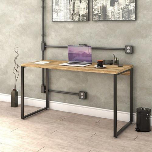 mesa para escritório office estilo industrial 1,35m kuadra