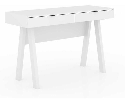 mesa para escritório pés retrô 2 gavetas várias cores me4128