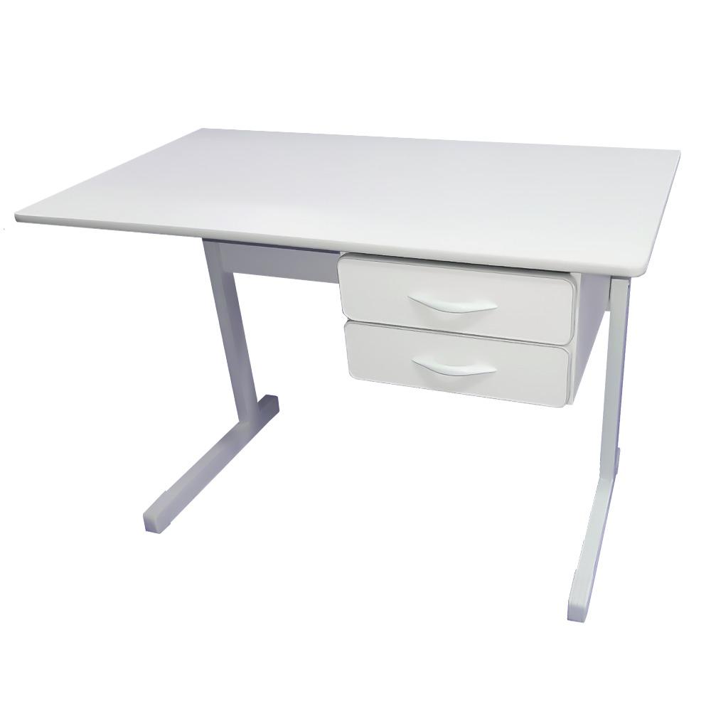 Mesa para escrit rio reta com 2 gavetas 105 x 60 p s em - Mesa escritorio l ...