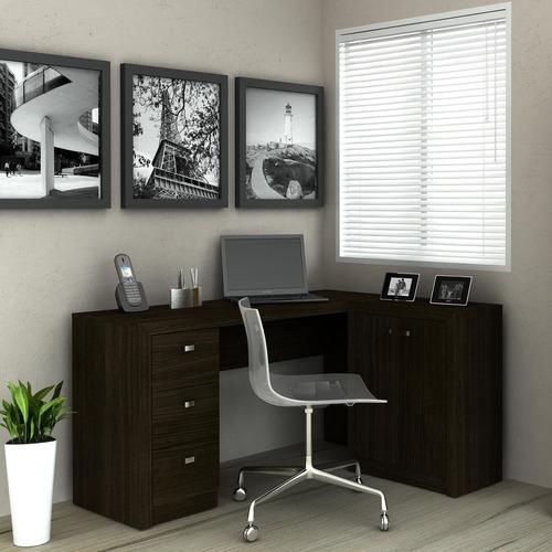 mesa para escritório tecno mobili me4100 tabaco ie
