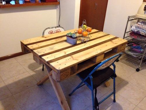 Mesa comedor picnic 4 pers para exterior de madera - Mesa madera exterior ...