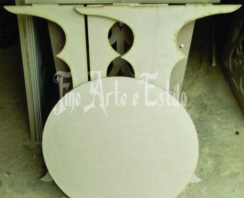 mesa para festas provençal em mdf toda desmontavel