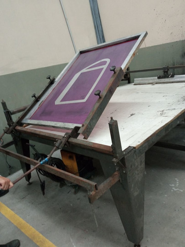 mesa para impressão serigrafia