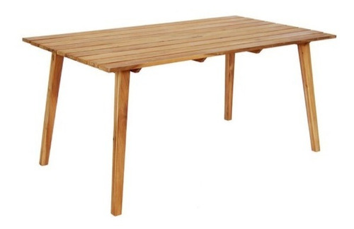 mesa para jardin de madera natural