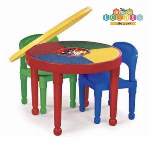 mesa para jugar bloques y legos