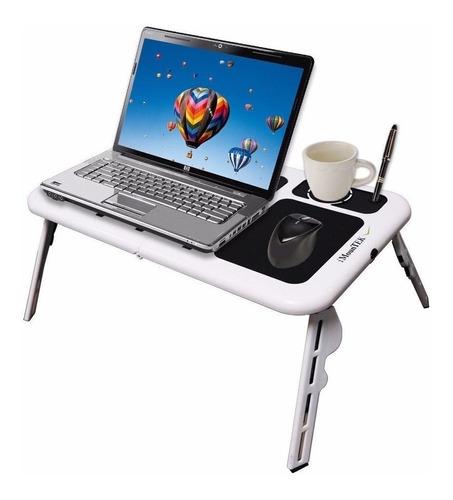 mesa para laptop con cooler mouse pad porta vaso