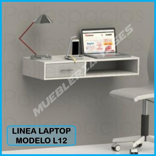 mesa para laptop niveles moderna minimalista flotante l12