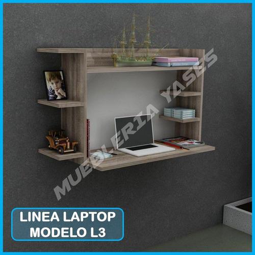 mesa para laptop niveles moderna minimalista flotante l3