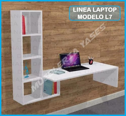 mesa para laptop niveles moderna minimalista flotante l7