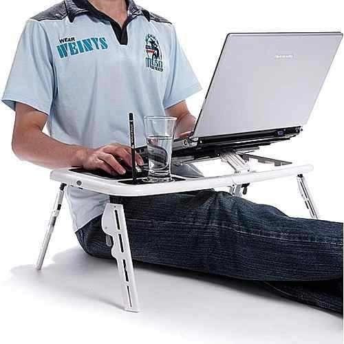 mesa para laptop, notebook portable con 2 ventiladores