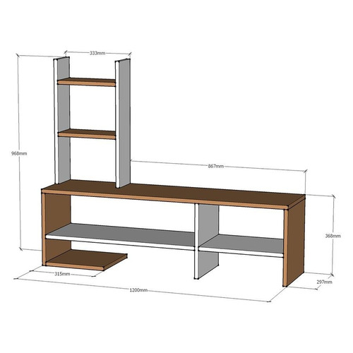 mesa para lcd/led living centro entretenimientos