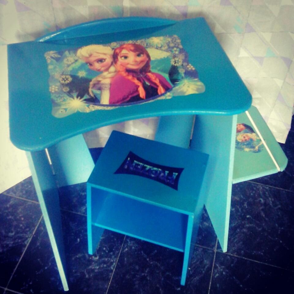 Mesa Para Niños Plegable Con Silla, Muebles Infantiles - Bs. 105.000 ...