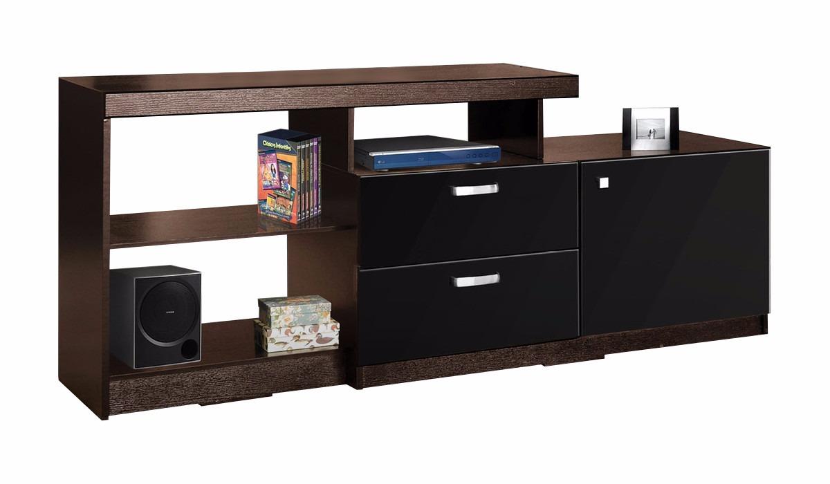 Mesa para pantalla tv moderna madera 3 en for Mesas para tv modernas