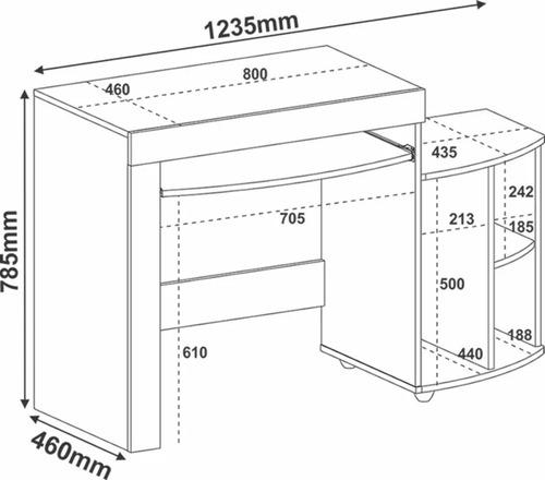 mesa para pc - escritorio gris negro