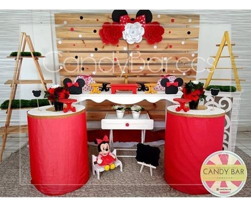 mesa para postres candy bar mobiliario tortas dulces