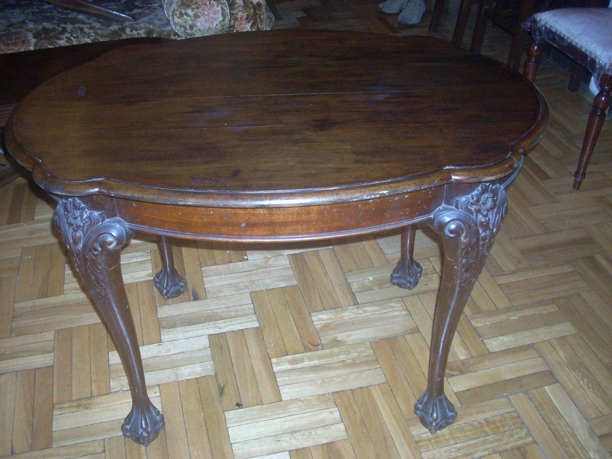 Mesa para sala de arrimo comedor recepci n en madera for Mesas de madera para sala