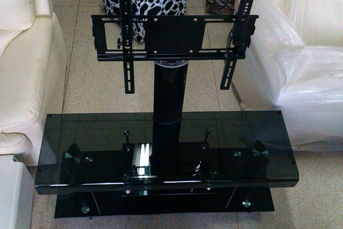 Mesa para televisor tv nueva con vidrio templado moderna for Mesas de televisor modernas