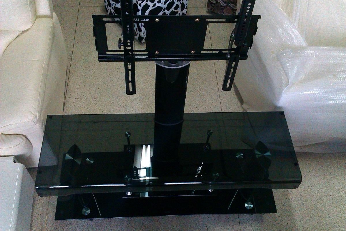 Mesa para televisor tv nueva con vidrio templado moderna for Vidrio templado mesa