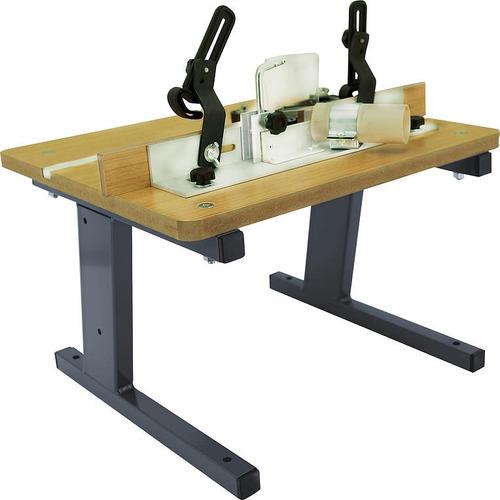 mesa para tupia com guia de corte manual bancada de trabalho