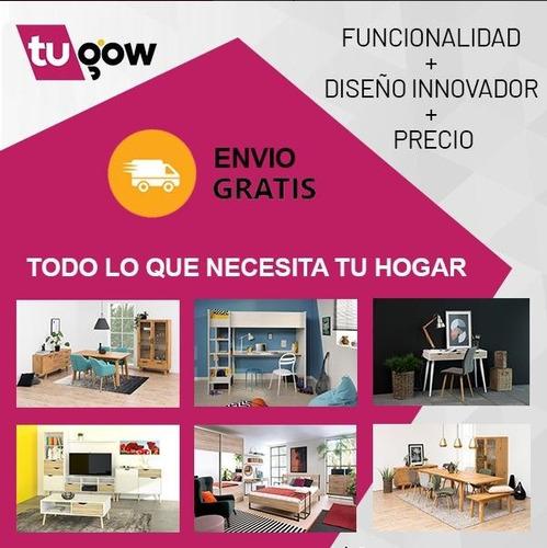 mesa para tv de madera blanco minimalista tugow envío gratis